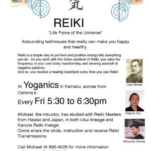 Flyer for Reiki Class