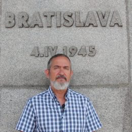 During a clearing at the Slavine Memorial, Bratislava