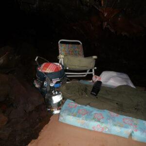300 m deep base camp
