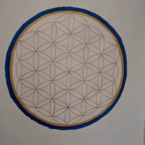 Flower of life, Wall Hanging, Paint on Canvas